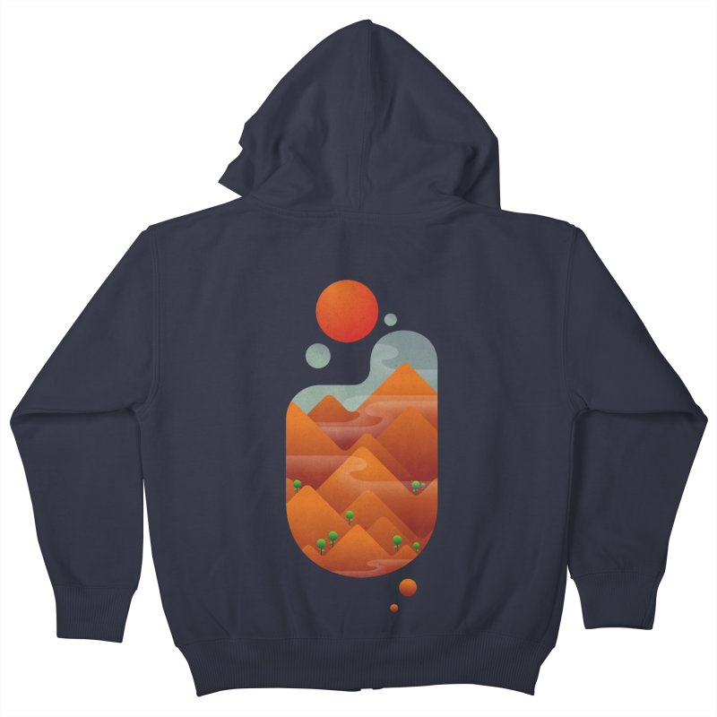 Once upon a time Kids Zip-Up Hoody by angoes25's Artist Shop
