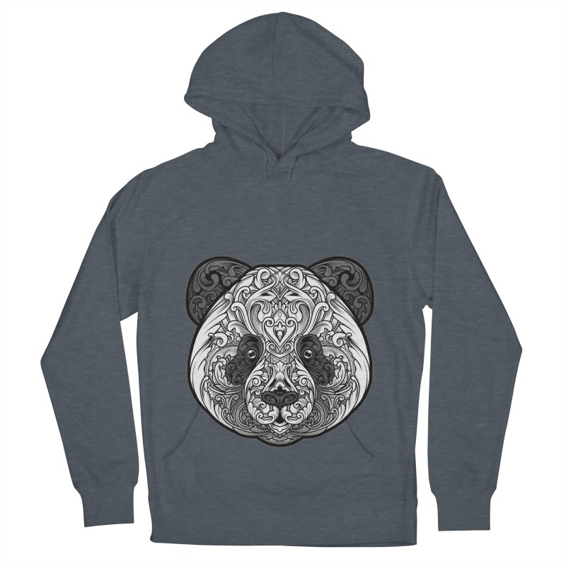 Panda-zen Women's French Terry Pullover Hoody by angoes25's Artist Shop