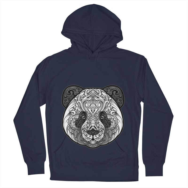 Panda-zen Men's French Terry Pullover Hoody by angoes25's Artist Shop