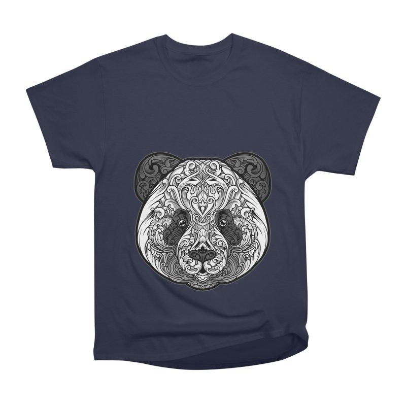 Panda-zen Men's Heavyweight T-Shirt by angoes25's Artist Shop