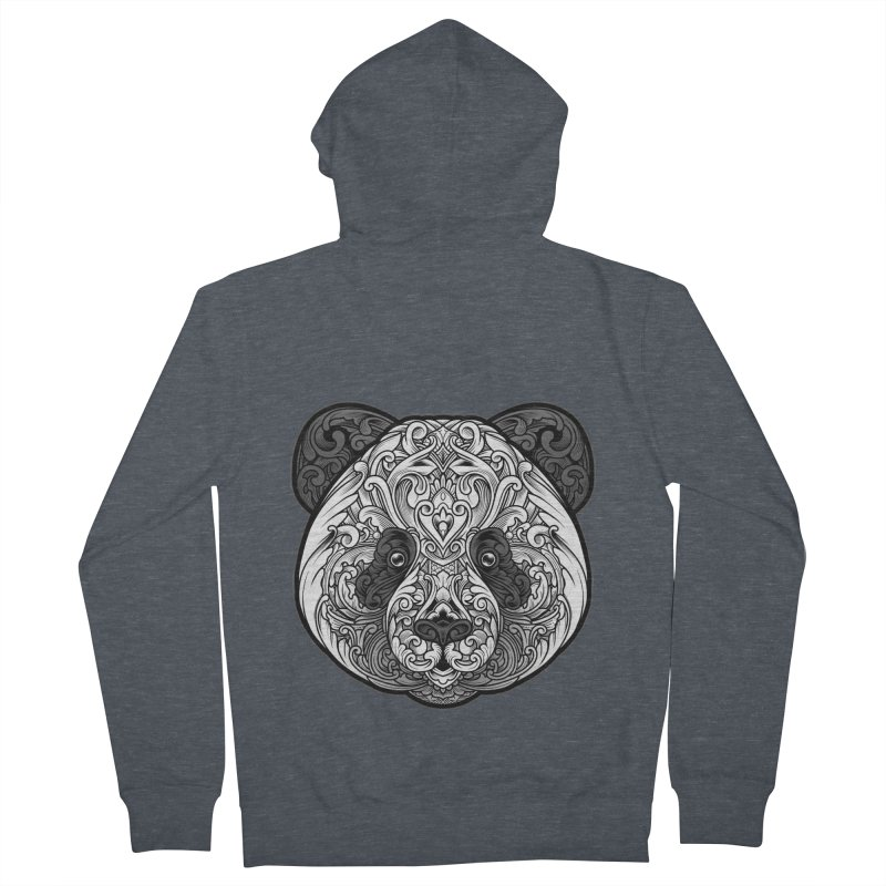 Panda-zen Men's French Terry Zip-Up Hoody by angoes25's Artist Shop