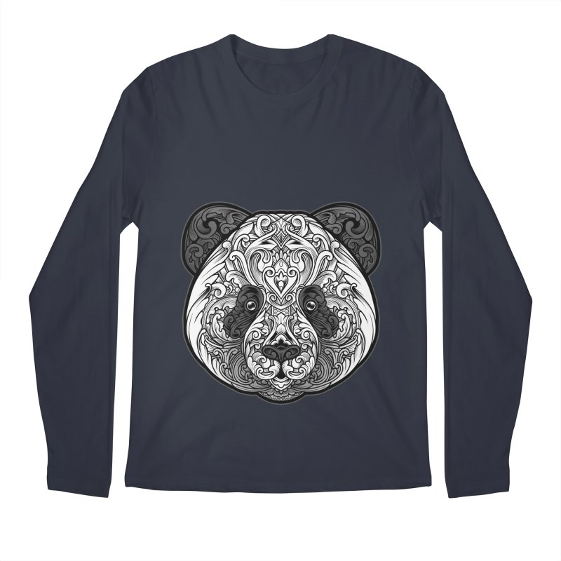 Panda-zen Men's Longsleeve T-Shirt by angoes25's Artist Shop