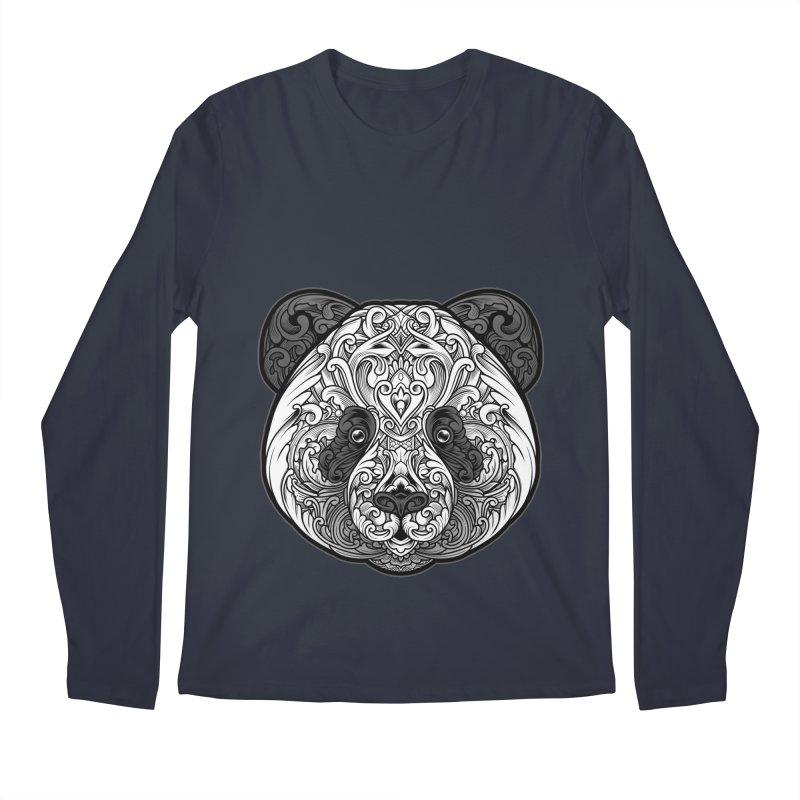 Panda-zen Men's Regular Longsleeve T-Shirt by angoes25's Artist Shop