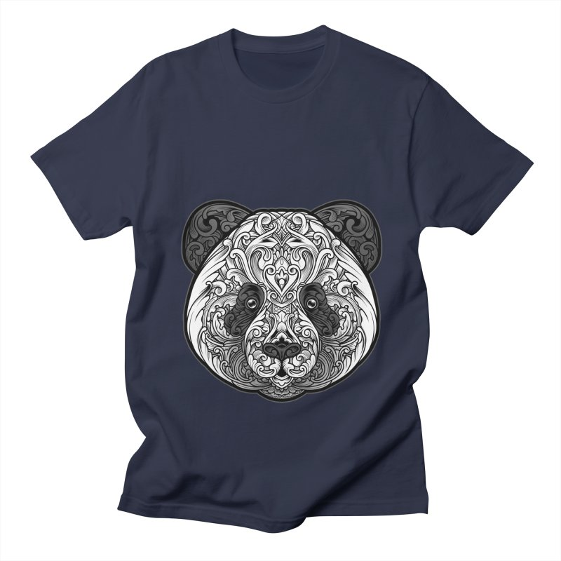 Panda-zen Men's Regular T-Shirt by angoes25's Artist Shop