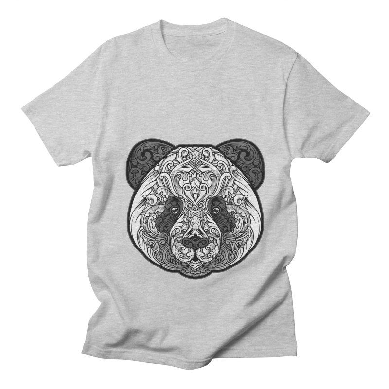 Panda-zen Men's Regular T-Shirt by angoes25's Artist Shop
