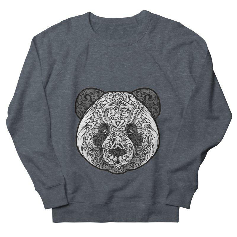 Panda-zen Men's French Terry Sweatshirt by angoes25's Artist Shop