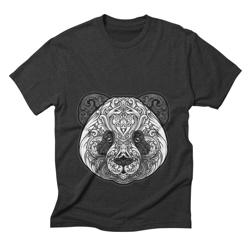 Panda-zen Men's Triblend T-Shirt by angoes25's Artist Shop