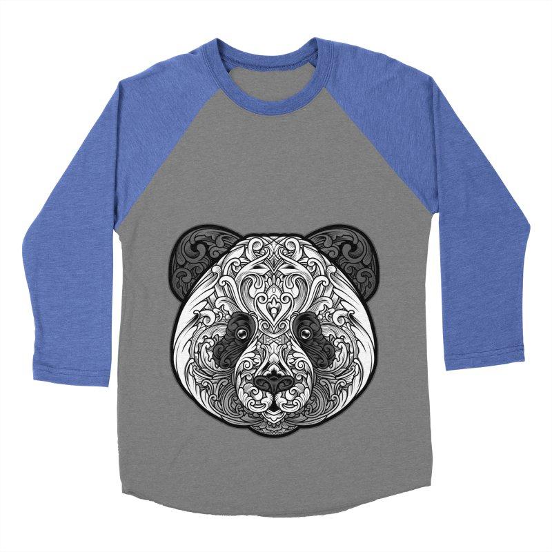 Panda-zen Men's Baseball Triblend Longsleeve T-Shirt by angoes25's Artist Shop