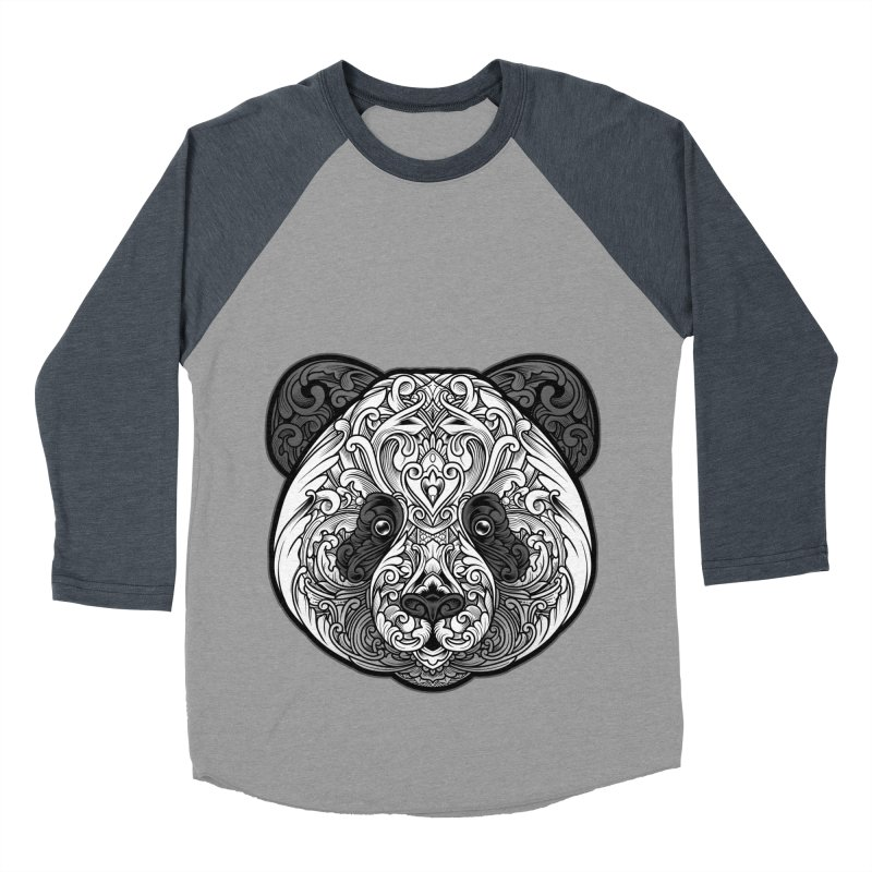 Panda-zen Men's Baseball Triblend T-Shirt by angoes25's Artist Shop