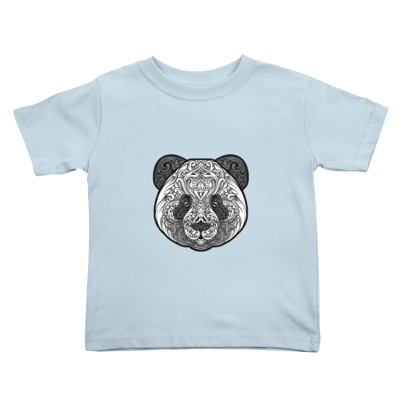 Panda-zen Kids Toddler T-Shirt by angoes25's Artist Shop