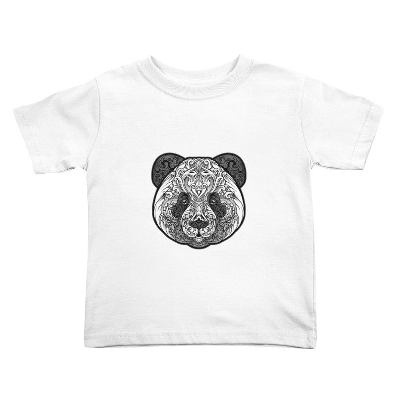 Panda-zen Kids Toddler T-Shirt by angoes25's Artist Shop
