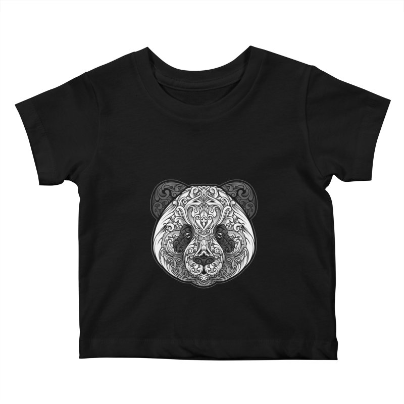 Panda-zen Kids Baby T-Shirt by angoes25's Artist Shop