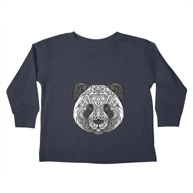 Panda-zen Kids Toddler Longsleeve T-Shirt by angoes25's Artist Shop