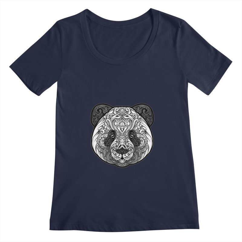 Panda-zen Women's Regular Scoop Neck by angoes25's Artist Shop