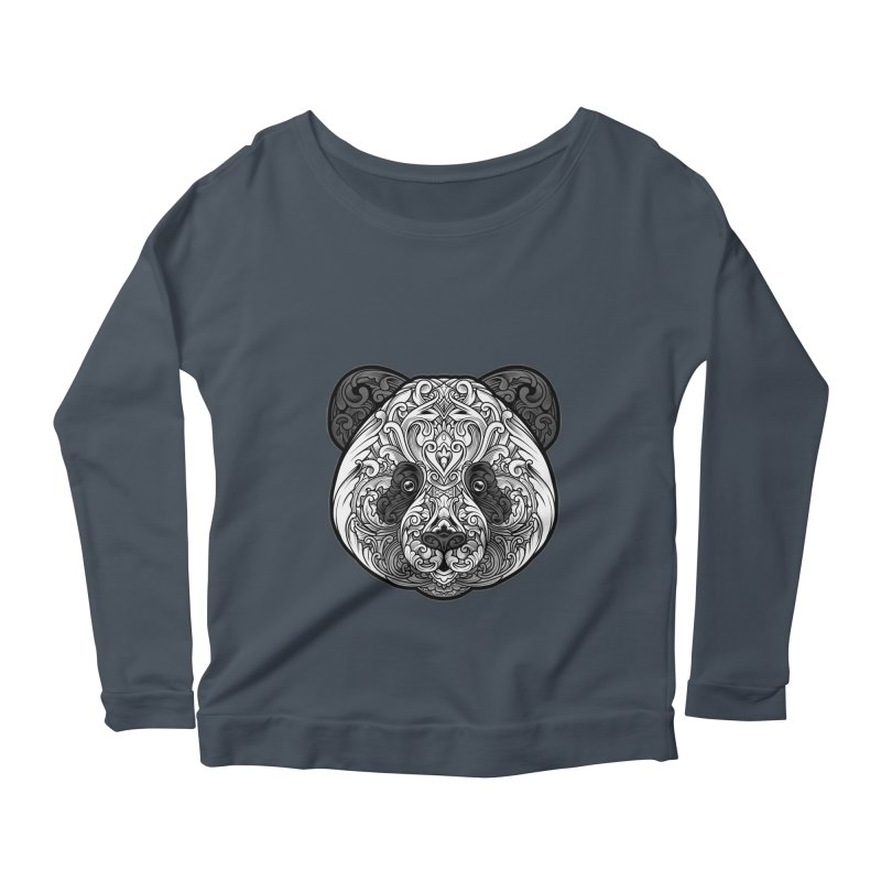 Panda-zen Women's Scoop Neck Longsleeve T-Shirt by angoes25's Artist Shop
