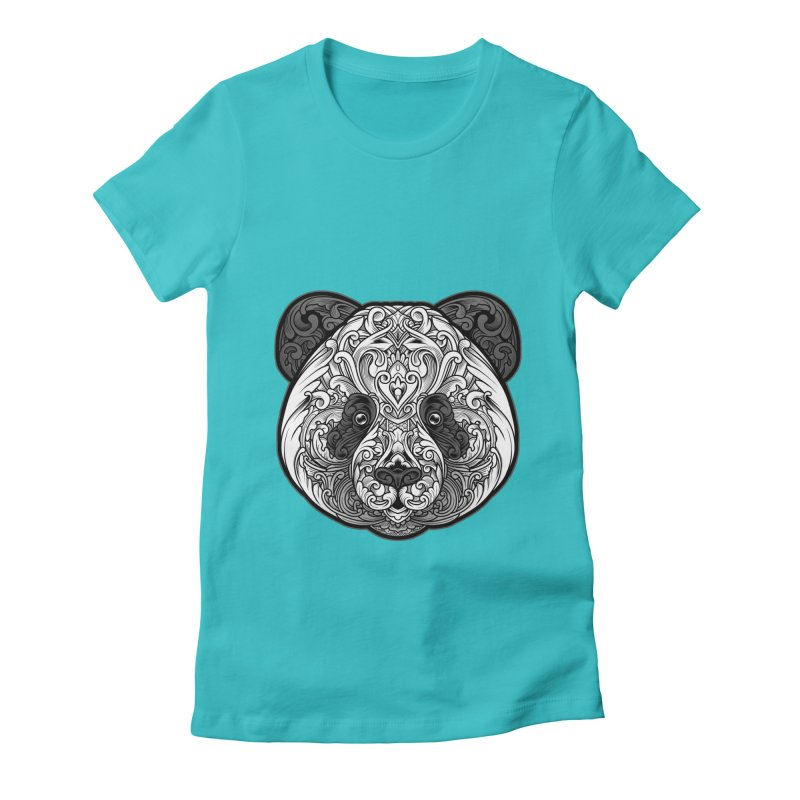 Panda-zen Women's Fitted T-Shirt by angoes25's Artist Shop