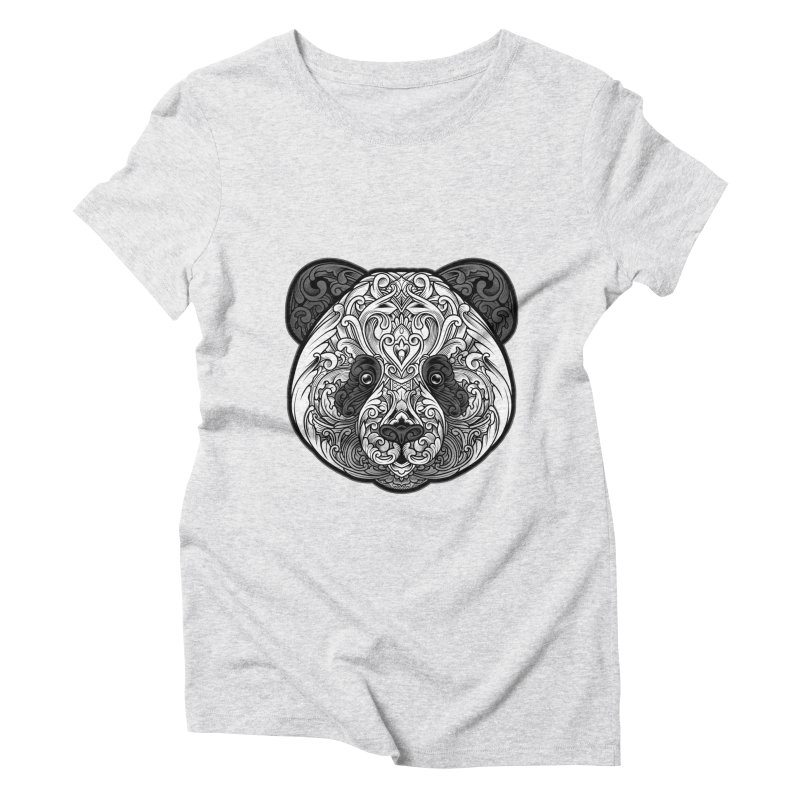 Panda-zen Women's Triblend T-Shirt by angoes25's Artist Shop