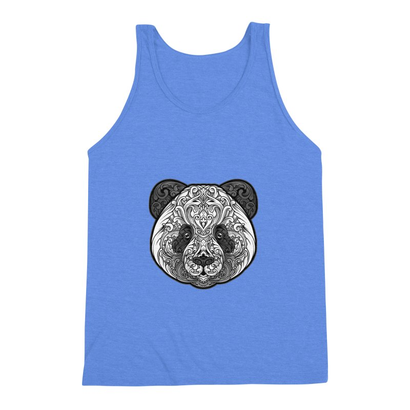 Panda-zen Men's Triblend Tank by angoes25's Artist Shop