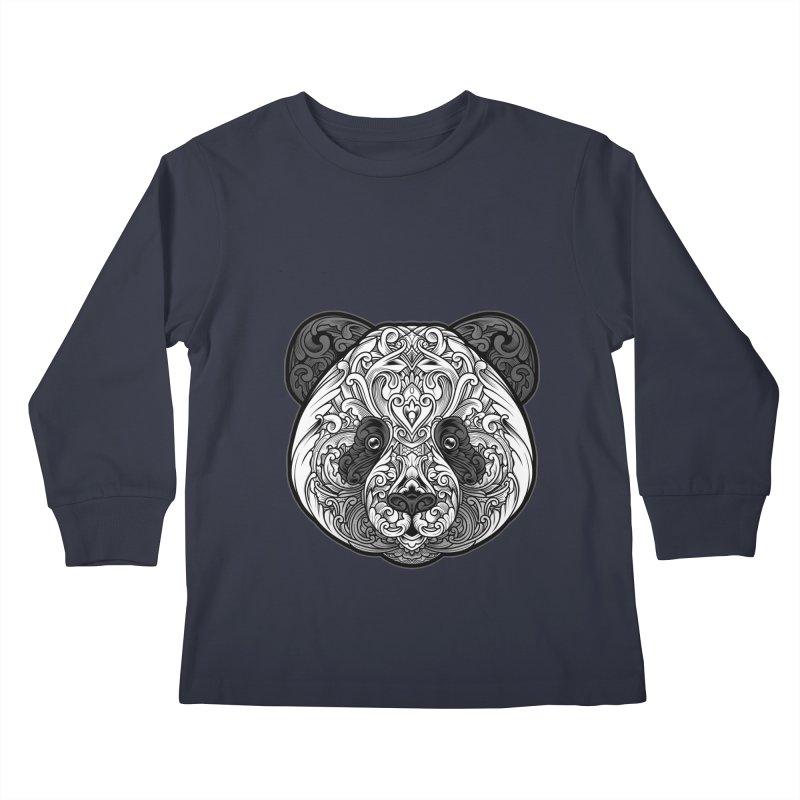 Panda-zen Kids Longsleeve T-Shirt by angoes25's Artist Shop