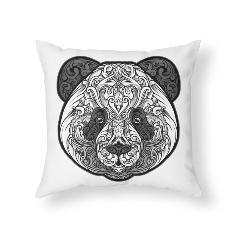 Panda-zen Home Throw Pillow by angoes25's Artist Shop