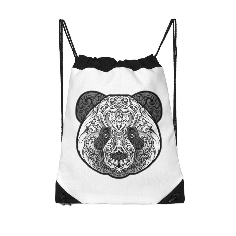 Panda-zen Accessories Drawstring Bag Bag by angoes25's Artist Shop