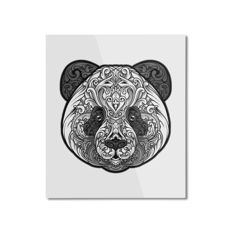 Panda-zen Home Mounted Aluminum Print by angoes25's Artist Shop