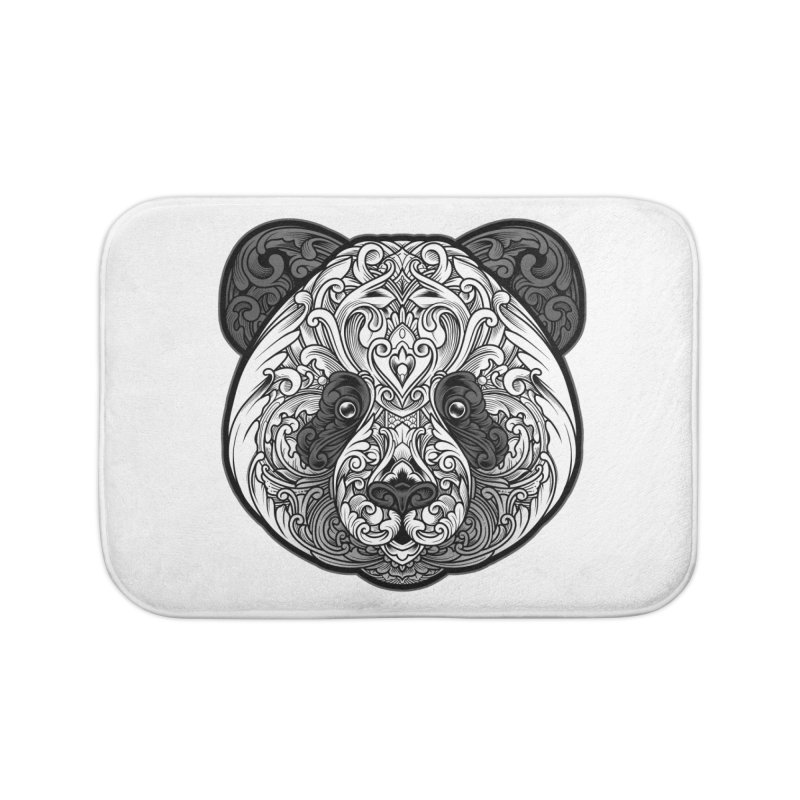 Panda-zen Home Bath Mat by angoes25's Artist Shop