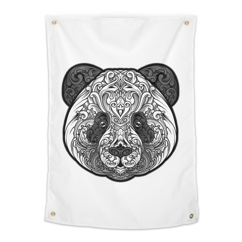 Panda-zen Home Tapestry by angoes25's Artist Shop