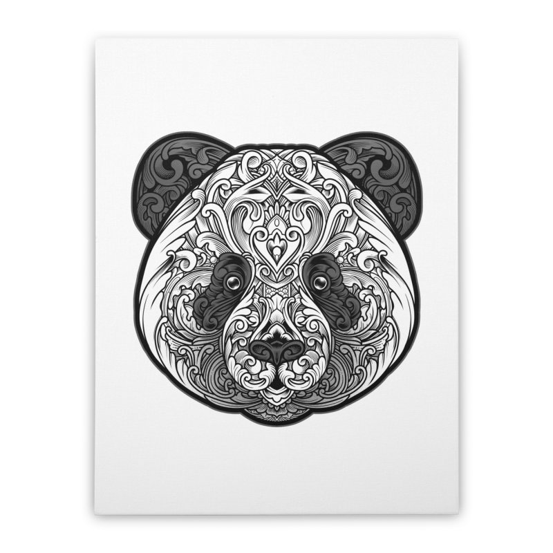 Panda-zen Home Stretched Canvas by angoes25's Artist Shop