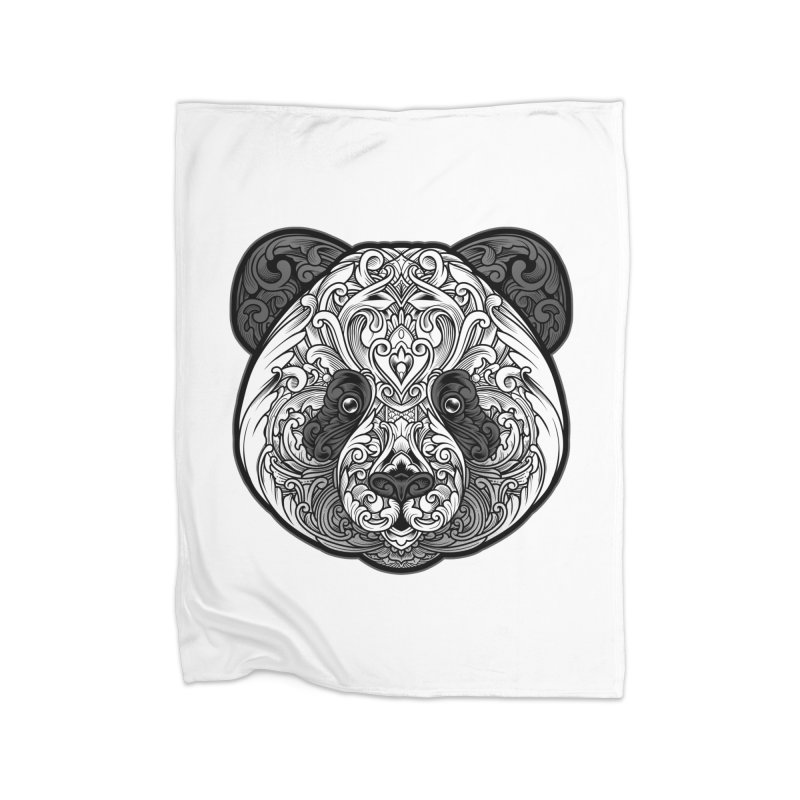 Panda-zen Home Blanket by angoes25's Artist Shop