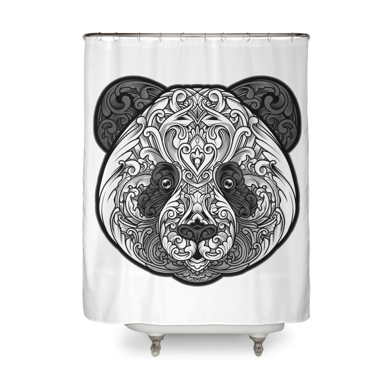 Panda-zen Home Shower Curtain by angoes25's Artist Shop