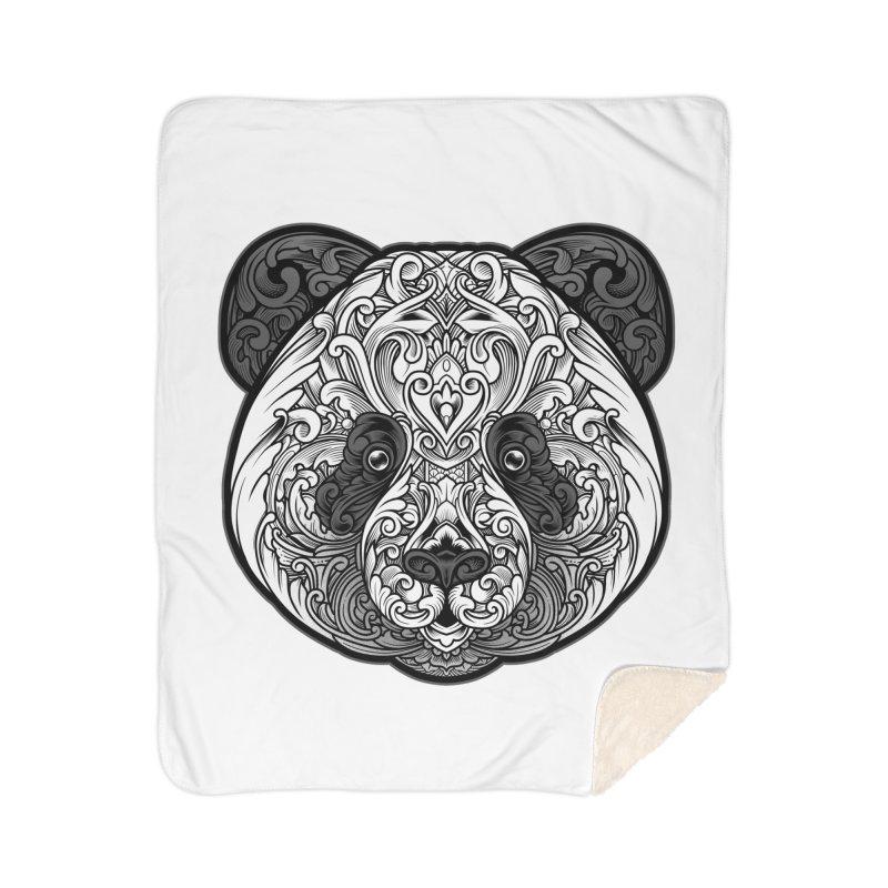 Panda-zen Home Sherpa Blanket Blanket by angoes25's Artist Shop