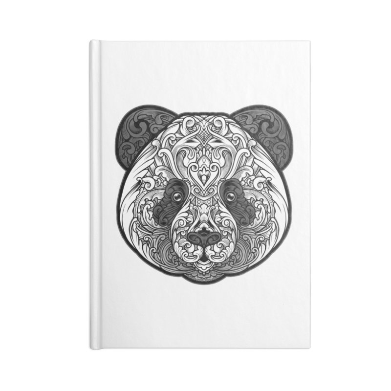 Panda-zen Accessories Lined Journal Notebook by angoes25's Artist Shop