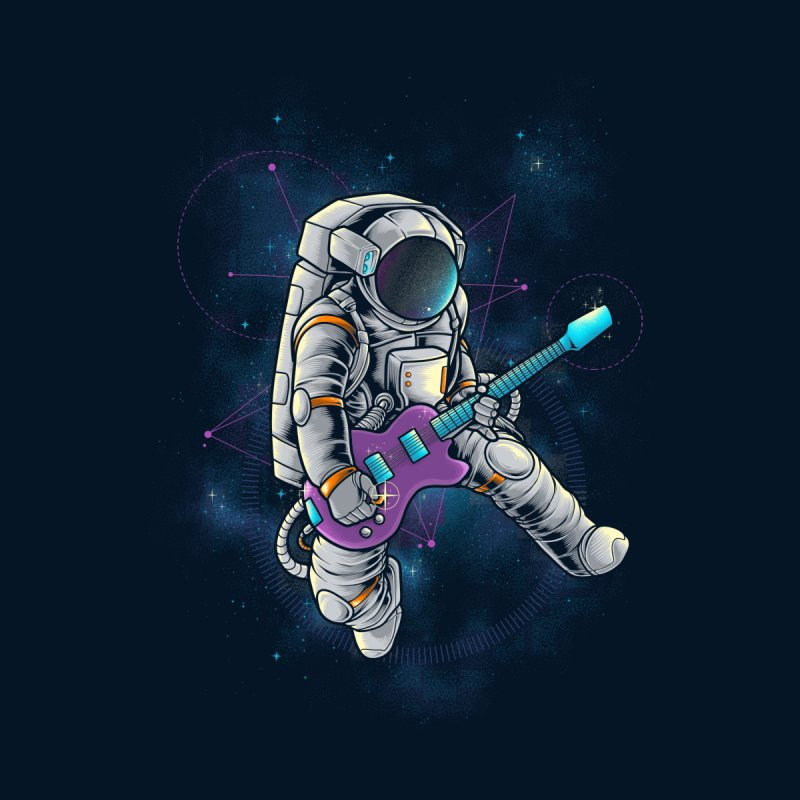 Rocker spaceman Women's Longsleeve T-Shirt by angoes25's Artist Shop