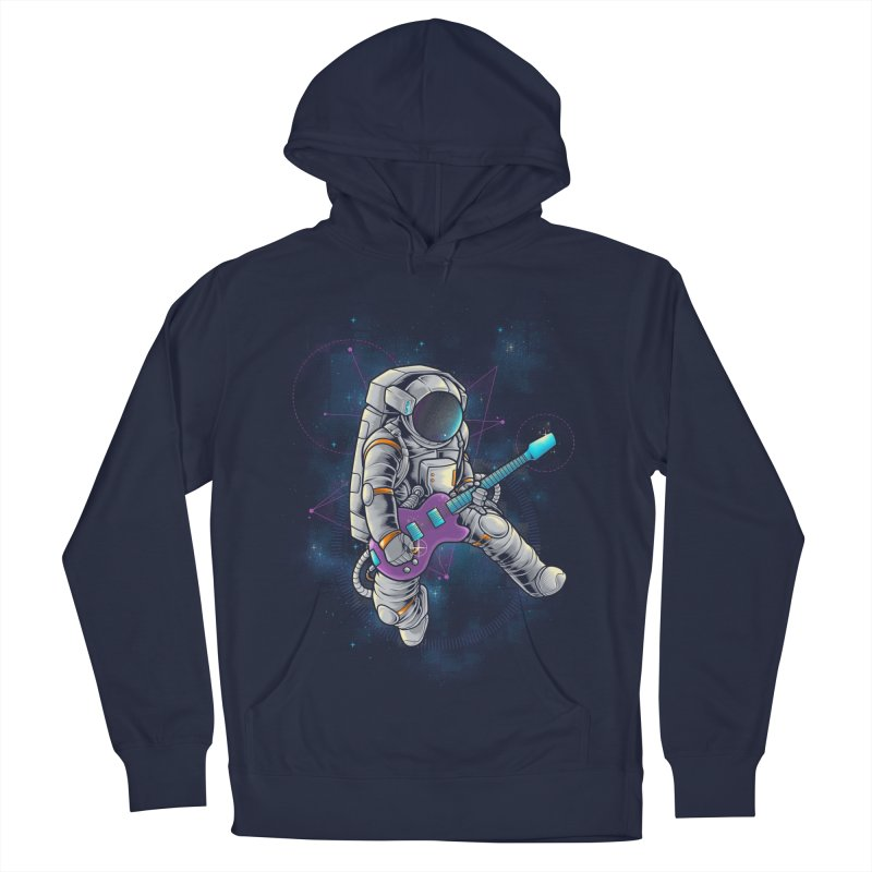 Rocker spaceman Men's French Terry Pullover Hoody by angoes25's Artist Shop