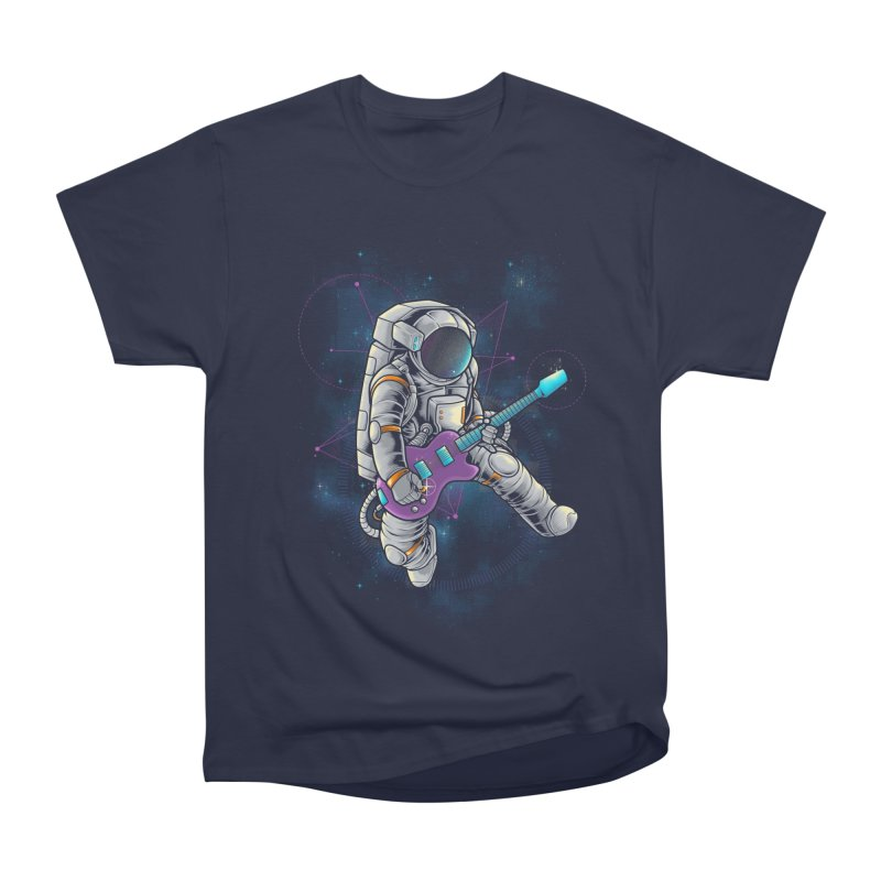 Rocker spaceman Women's Heavyweight Unisex T-Shirt by angoes25's Artist Shop