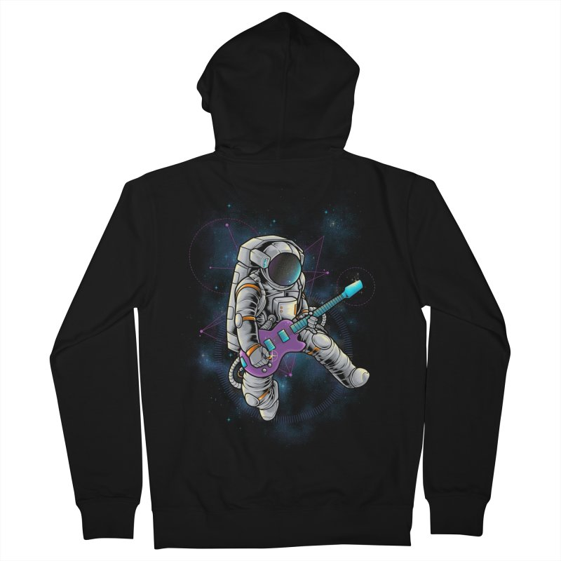 Rocker spaceman Women's French Terry Zip-Up Hoody by angoes25's Artist Shop
