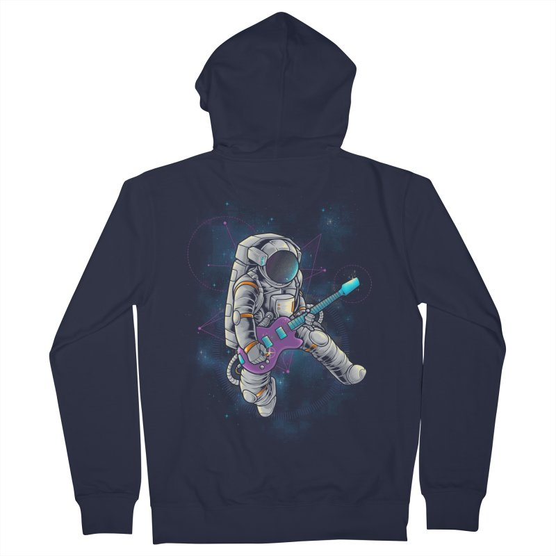 Rocker spaceman Men's French Terry Zip-Up Hoody by angoes25's Artist Shop