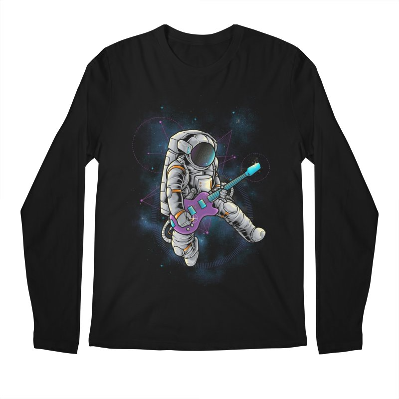 Rocker spaceman Men's Regular Longsleeve T-Shirt by angoes25's Artist Shop