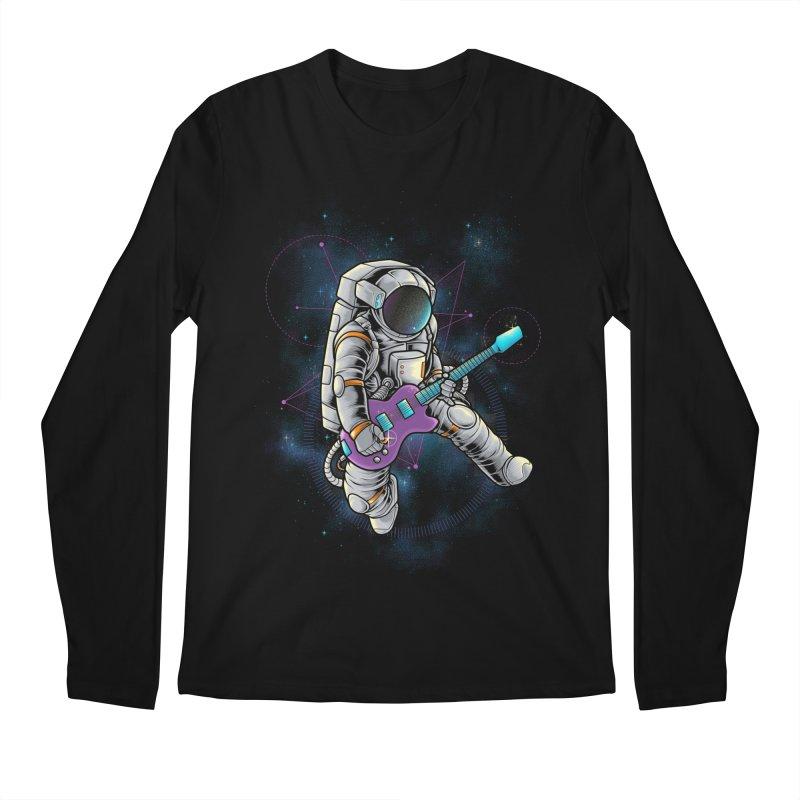 Rocker spaceman Men's Longsleeve T-Shirt by angoes25's Artist Shop