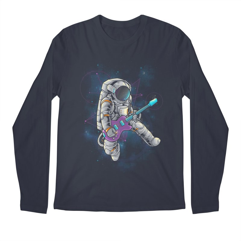 Rocker spaceman Men's Longsleeve T-Shirt by angoes25's Artist Shop