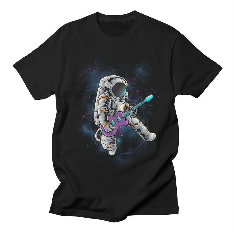 Rocker spaceman Men's T-Shirt by angoes25's Artist Shop