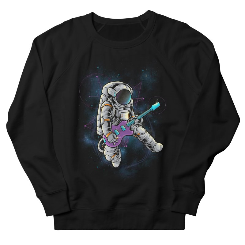 Rocker spaceman Women's French Terry Sweatshirt by angoes25's Artist Shop