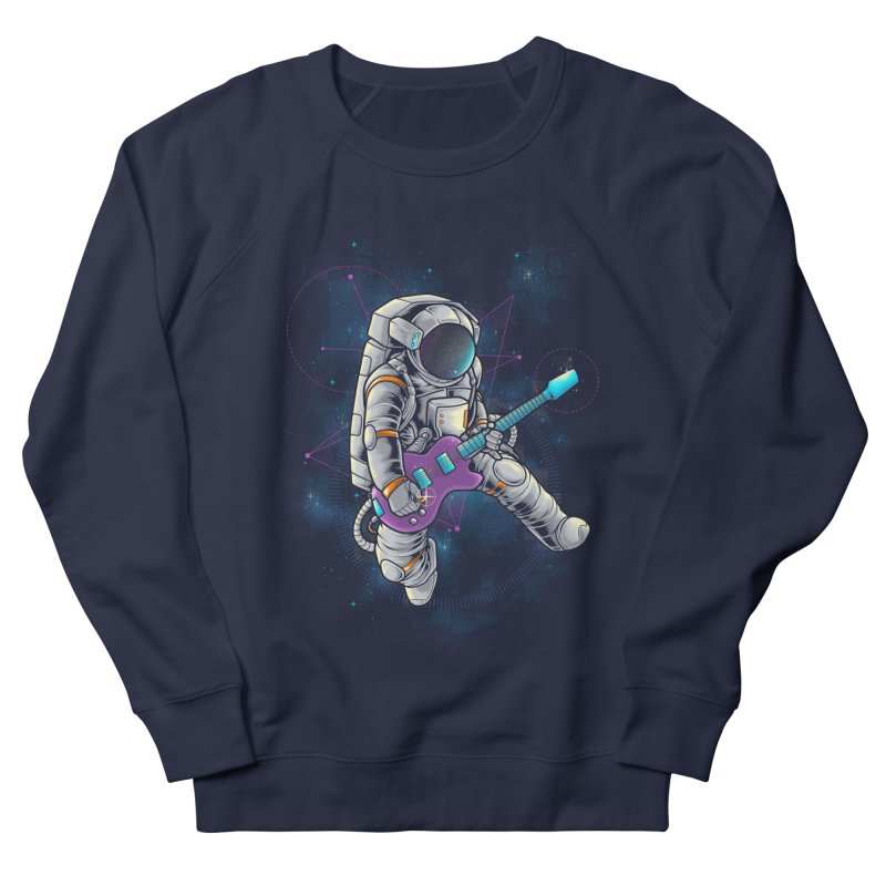 Rocker spaceman Men's French Terry Sweatshirt by angoes25's Artist Shop