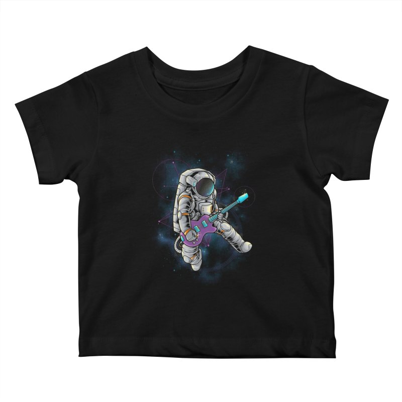 Rocker spaceman Kids Baby T-Shirt by angoes25's Artist Shop