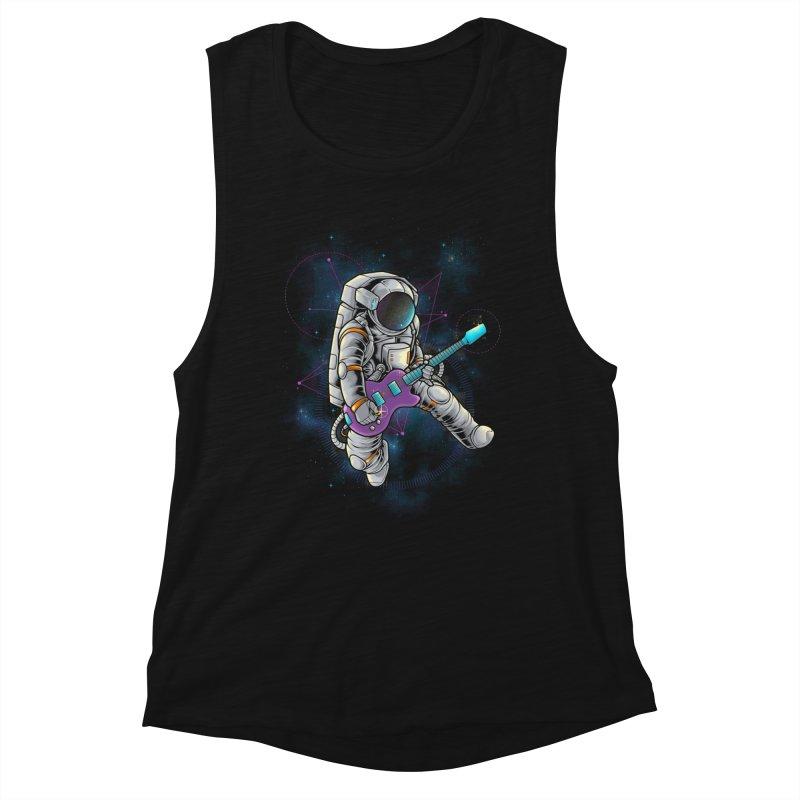 Rocker spaceman Women's Muscle Tank by angoes25's Artist Shop