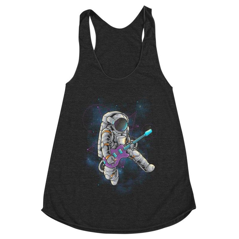Rocker spaceman Women's Racerback Triblend Tank by angoes25's Artist Shop