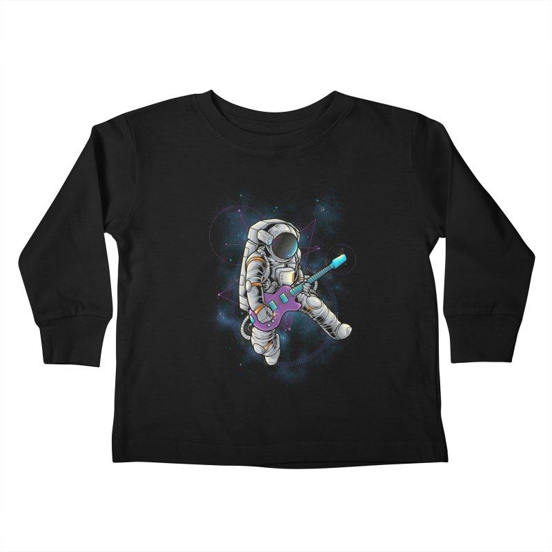 Rocker spaceman Kids Toddler Longsleeve T-Shirt by angoes25's Artist Shop