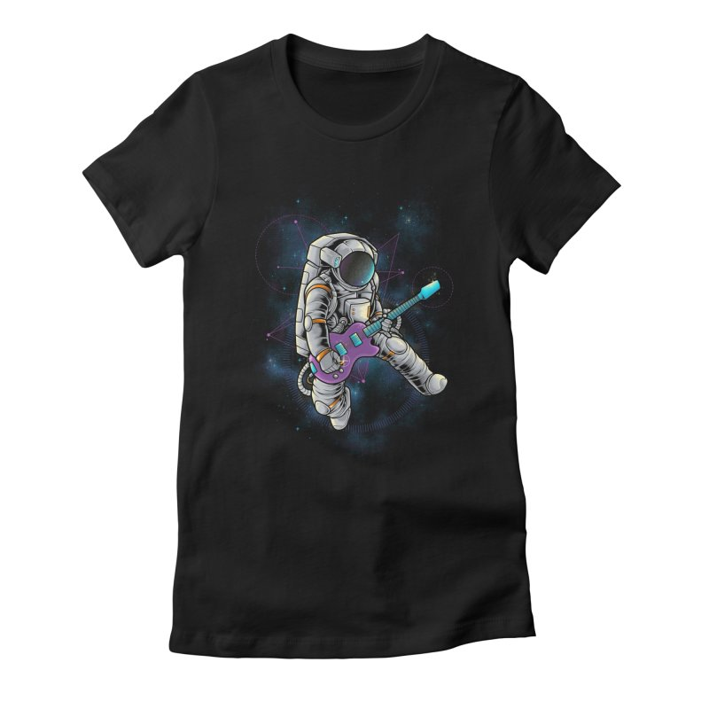 Rocker spaceman Women's Fitted T-Shirt by angoes25's Artist Shop
