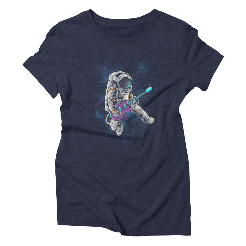 Rocker spaceman Women's Triblend T-Shirt by angoes25's Artist Shop